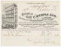Jay C. Wemple & Co., bill or receipt