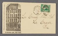 John F. Stratton, 49 Maiden Lane, New York. Envelope