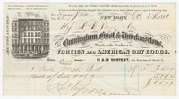 Cunningham, Frost & Throckmortons. Bill or receipt