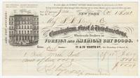 Cunningham, Frost & Throckmortons. Bill or receipt