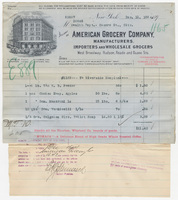 American Grocery Company. Bill or receipt
