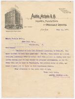 Austin, Nichols & Co., letter