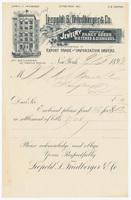 Leopold & Friedberger & Co., bill or receipt
