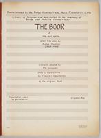 Boor: piano reduction, title page