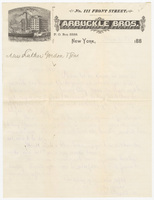 Arbuckle Bros., letter