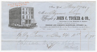 John C. Tucker & Co., bill or receipt