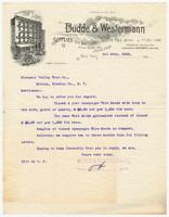 Budde & Westermann, letter