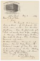 M.&S. Sternberger, letter