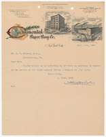 Continental Paper Bag Co., letter