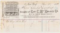 Geo. C. McEwen & Co. Bill or receipt