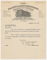 H.B. Claflin Corporation. Letter