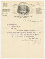 Thurber, Whyland & Co., letter