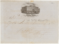 Irving House, Bill or receipt