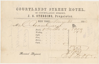 Courtlandt Street Hotel. Bill or receipt