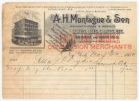 A.H. Montague & Son, bill or receipt