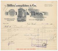 Miller, Tompkins & Co., bill or receipt