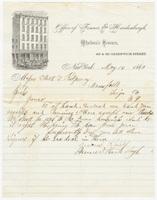 Fenner & Hardenbergh, letter