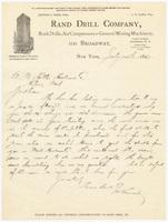 Rand Drill Company, letter
