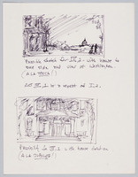 Frederick Douglass sketches for sets, Act III