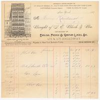 S. E. Bloch & Bro., bill or receipt