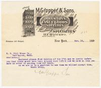 M. Gropper & Sons, letter