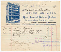 Cushing, Bardua & Co., bill or receipt