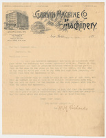 Garvin Machine Co. Letter
