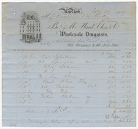 M. Ward. Close & Co., bill or receipt