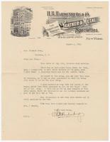 H. B. Hardenburg & Co., letter