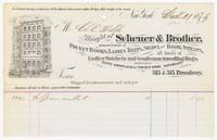 Scheuer & Brother, bill or receipt