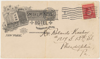 Smith & McNell's Hotel. Envelope