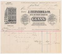 J. Fitzpatrick & Co. Bill or receipt