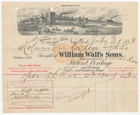 William Wall's Sons, bill or receipt