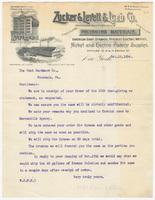 Zucker & Levett & Loeb Co., letter
