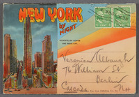 New York by night. Recto of souvenir booklet cover