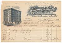 Samuel Schiff & Co., bill or receipt