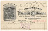 Randolph M. Smiley, bill or receipt