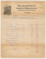 Wm. A. Leggett & Co., bill or receipt