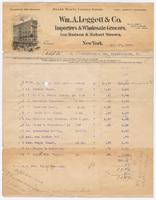 Wm. A. Leggett & Co., bill or receipt