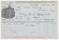 D. S. Walton & Co., bill or receipt