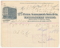 Peter Schneider's Sons & Co., bill or receipt