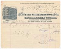 Peter Schneider's Sons & Co., bill or receipt
