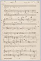 Aulos sketch, page 1, recto and verso
