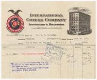 International Coffee Company, bill or receipt