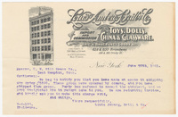 Louis Amberg, Brill & Co., letter