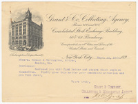 Grant & Co. Collecting Agency, letter