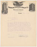 American Standard Jewelry Co. Letter