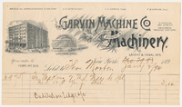 Garvin Machine Co. Bill or receipt