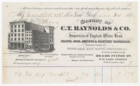 C. T. Raynolds & Co., bill or receipt