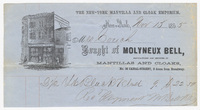Molyneux Bell, bill or receipt